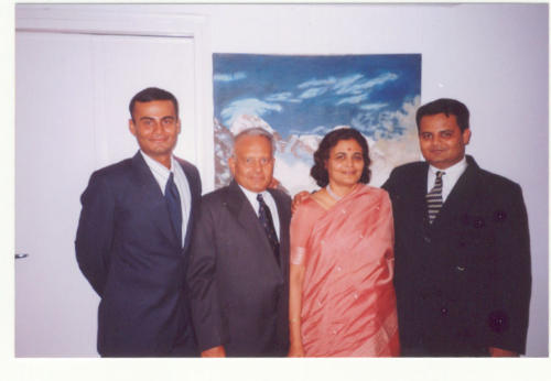 Kapadia family all Kapadia family all Kapadia family all dressed up (L to R) Lt. Nawang Kapadia, Harish Kapadia, Geeta Kapadia, Sonam Kapadia