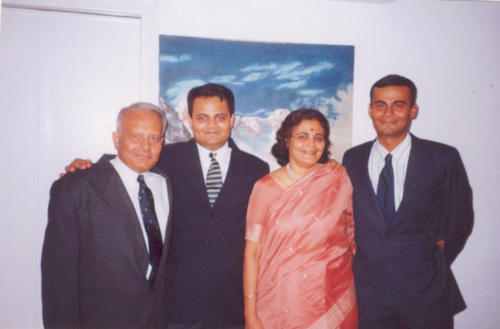 Kapadia family all Kapadia family all dressed up (L to R) Harish Kapadia, Sonam Kapadia, Geeta Kapadia,Lt. Nawang Kapadia